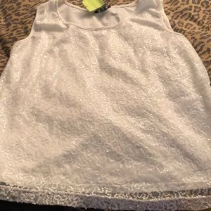 What sequin tank w/stretch